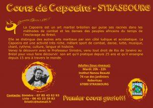 Fly-verso Capoeira Strasbourg